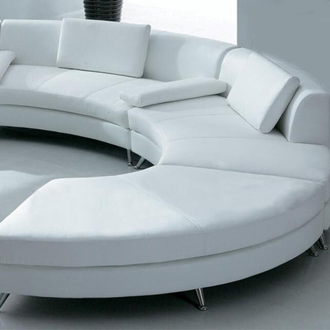 U-Shaped Curved Sectional Sofa Living Room Mall Public Area White Sofa Couch