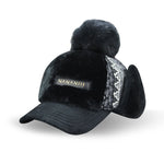 Warm Winter Earmuffs Baseball Cap Plus Velvet Thickening Plus Hairball Snapback - Dealfactor Canada