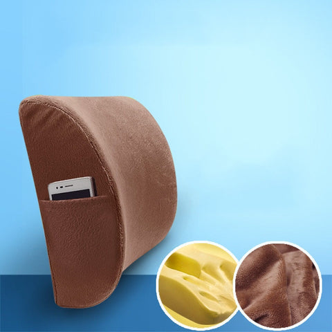 High quality Soft Memory Foam Lumbar Support Massager Waist Cushion Pillow For Chairs Car Seat