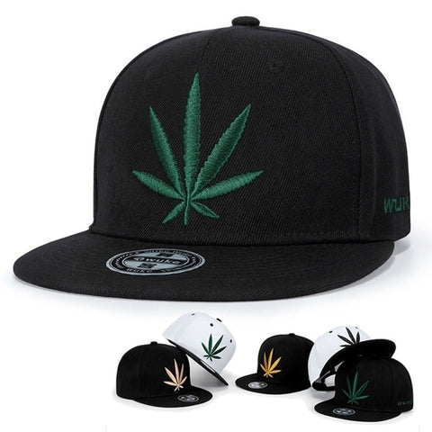 Spring Summer Maple Leaf Embroidery Baseball Cap Fashion Snapback Caps Outdoor Cotton Hiphop Hat Cool