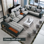 Sectional L Corner Living Room Furniture Lounge Sofa With Loveseat Set