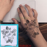 Waterproof Temporary Tattoo Sticker Rose Flower Hand Arm Foot Back Body Art