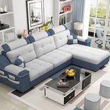Luxury Green Sectional Couch Sofa With Storage And Ottoman Lazy Blue Sectional Furniture