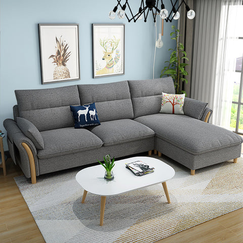 Home Furniture Leisure Sectional Detachable Modern European Small Apartment Living Room Sofa Set