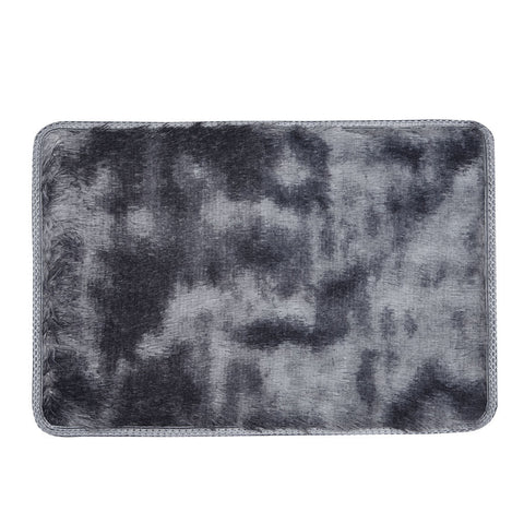 Nordic Motley Tie-Dye Gradient Carpet 120x160cm Living Room Rectangular Area Rug Washable  (Black)