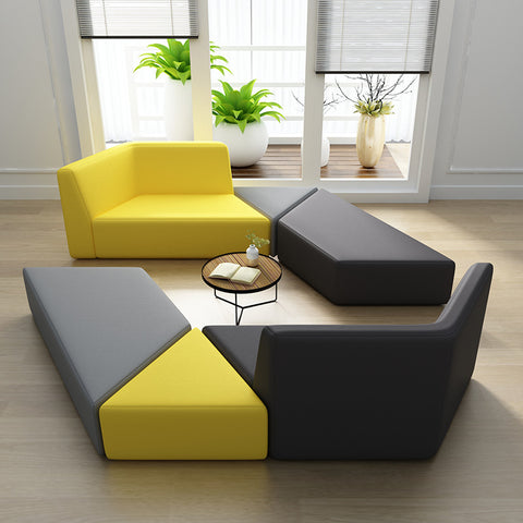 Office Reception Style Sofa Chair Combination Simple Colorful Office Chairs