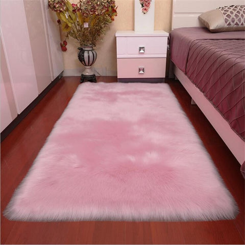 Area Rug Floor Mat Fur Carpet Living Room Sheepskin Area Rug With Long Hairy Plush Sofa Bedroom And More