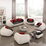 Reception Office Combination Curved Shaped Sofa Couch