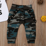Boys Set Cute Outfits Short Sleeve T-Shirt Top With Pants Set - Dealfactor Canada