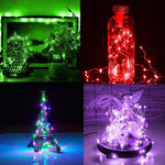 10x 20 LED Wine Jar Bottle Lights Cork Battery Powered Starry DIY Christmas String Lights For Party Halloween Wedding Decoration