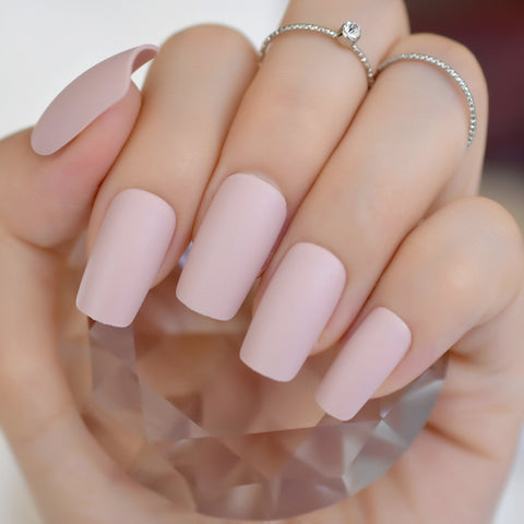 - Apricot Cream Korea Fake Nails Medium Square  (F27-257M)