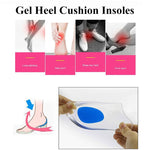 Women Men Silicon Gel Heel Cushion Insoles Soles Protectors To Relieve Foot Pain - Dealfactor Canada