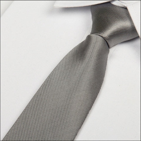 Men's Casual Silver Colored Necktie 8cm  (C20) - Dealfactor Canada