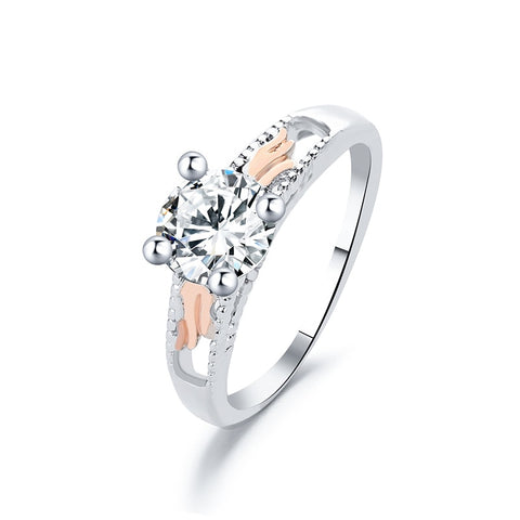 Glamour Copper Rhinestone Engagement Ring - Dealfactor Canada