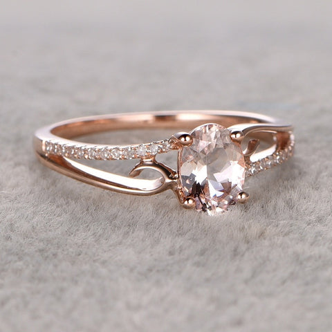 Rose Gold Classical Cubic Wedding Ring - Dealfactor Canada