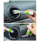 Double Slider Car Air Conditioning Outlet Clean Brush Window Blinds Keyboard Brush - Dealfactor Canada