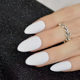 Soft Pink Purple Matte False Nails Light Lilac Color Frosted Top Finish Designs - Dealfactor Canada