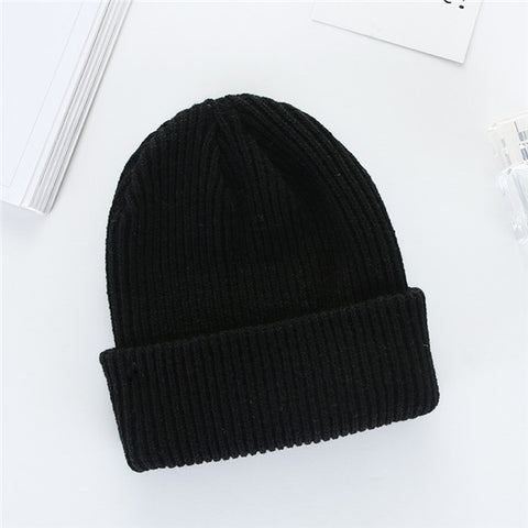 Winter Knit Baggy Beanie Oversize Winter Hat Solid Color Hip Hop Style - Dealfactor Canada