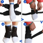 1pc Elastic Ankle Support Band Compression Brace for Sport Injuries - Breathable Neoprene Sleeve for Pain Relief, Sprains Ankle (Medium) - Dealfactor Canada