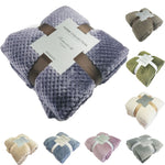 Super Soft Blanket Flannel Aircraft Sofa Use Office Children Blanket Towel Travel Fleece Mesh P