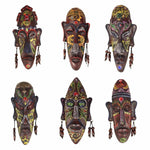 2pcs Zakka 3D Creative Resin Crafts Retro Decoration African Masks - Dealfactor Canada