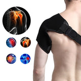 Shoulder Pad Brace Protector Tear Injury Joint Dislocated Prevent Recovery Shoulder Support (Curved Style Medium) - Dealfactor Canada