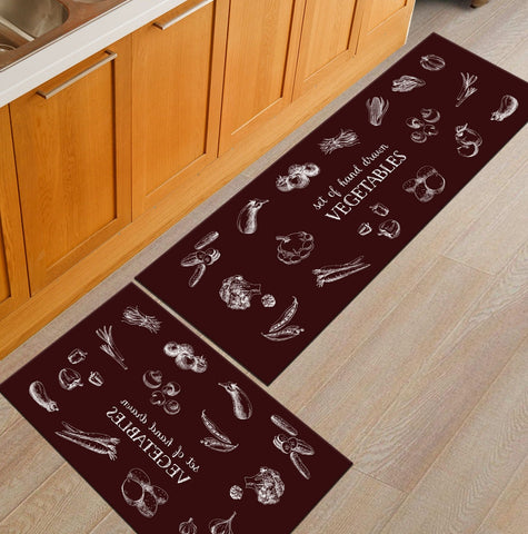 Modern Geometric Kitchen Mat Anti-Slip Bathroom Carpet Home Entrance