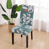 6pcs Modern Printed Chair Seat Covers Kitchen Slipcover Removable Anti-Dirty
