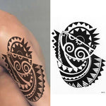 Polynesian Temporary Tribal Turtle Tattoo Maori Waterproof