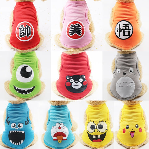 Hot Cute Pet Dog Clothes Cartoon Cat T-Shirt Soft Puppy Dogs Clothes