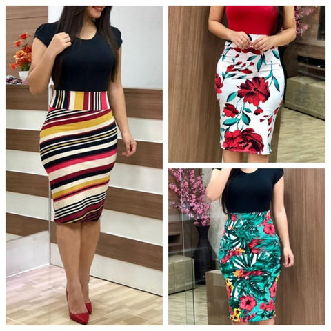 Women Bodycon Dress 3XL Sexy Vintage Elegant Floral Pencil Dresse