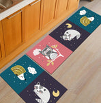 Modern Geometric Kitchen Mat Anti-Slip Bathroom Area Rug Carpet