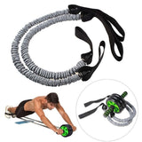 Belly Wheel Roller Elastic Resistance Ropes (Without Roller)  (black) - Dealfactor Canada