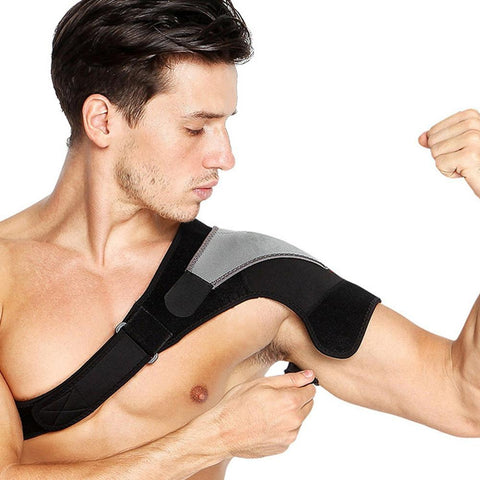 Left or Right Shoulder Brace Adjustable Shoulder Support With Pressure Pad for Injury Prevention, Sprain,Soreness,Tendinitis - Dealfactor Canada