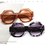 New Designed Italian Style Big Frame Round Sunglasses for Women