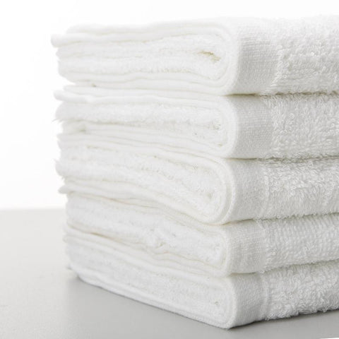 Hand Towel Water-absorbent Cotton Bath Beach Towels White Hotel Towel Set Face Towel