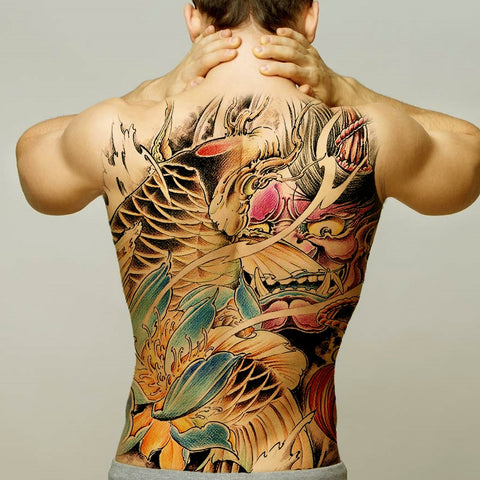 Temporary Body Art Waterproof Tattoo Stickers Large Vintage Full Back Tattoo Stickers
