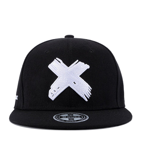 High Quality Unisex Cotton Snapback Cap 3D X Embroidery Flat Brim Baseball Cap Fashion Hip Hop Hats