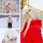 Women's Winter Knitted Hat Slouchy Beanie Skullies Cap - Dealfactor Canada