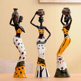 "Creative Home Furnishing Decorative 3pcs Resina African Dolls 7.8"" - Dealfactor Canada"