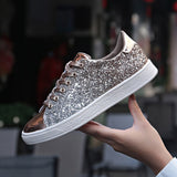 LudBA Originals® Women's Rich Hip-Pop Girl Vulcanized Lace Up Bling Shoes - Dealfactor Canada