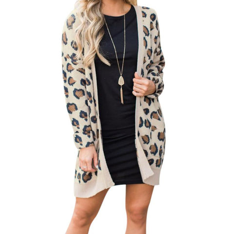 Casual Slim Cardigan Coat Women Long Sleeve - Dealfactor Canada