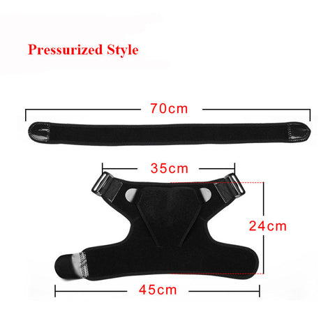 Breathable Adjustable Shoulder Pad Brace Protector Tear Injury Joint Dislocated Recovery Pad (Pressurized Style Medium) - Dealfactor Canada