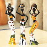 3pcs/set  African Dolls Resin Exotic Lady Figurines Furnishing Crafts - Dealfactor Canada