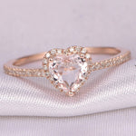 Heart Shaped Rose Gold Wedding Ring - Dealfactor Canada
