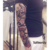 Temporary Body Artwork Flower Arm Tattoo Sticker Fish Peacock Lotus