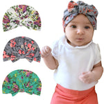 Children Print Rabbit Ears Baby Hat Kids Bow Cap for Newborn Baby Girls Great For Photography Props - Dealfactor Canada