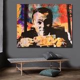 Modern Canvas Painting Abstract Printed Leonardo Di Caprio Dollar Poster Prints