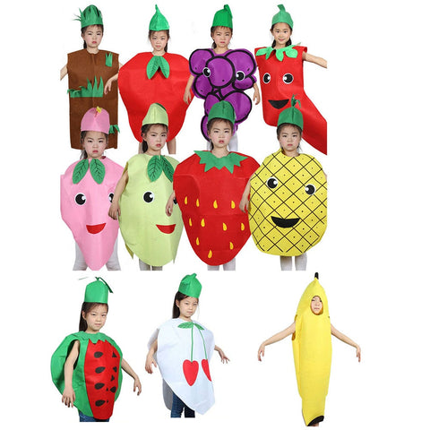 Unisex Children Fancy Dress Cartoon Fruit Vegetable Costume - Dealfactor Canada