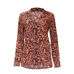 Women Spring Plus Size Long Sleeve Lapel Collar Chiffon Blouse - Dealfactor Canada